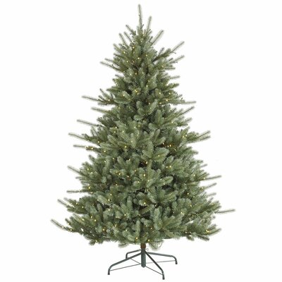 Vickerman Colorado 7.5' Blue Spruce Artificial Christmas Tree with 720 LED White Lights with ...