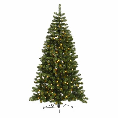 Vickerman Co. Grand Teton 7.5' Green Half Artificial Christmas Tree with 250 LED White Lights
