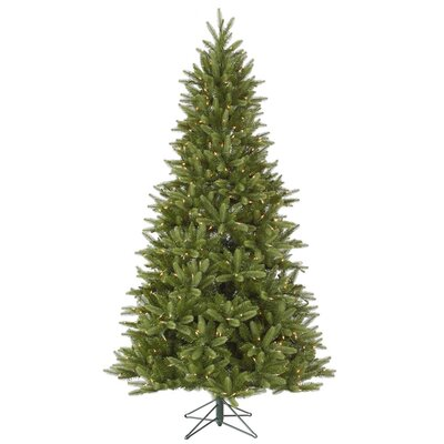 Vickerman Bradford 8.5' Green Pine Artificial Christmas Tree with 800 Dura-Lit Clear Lights ...