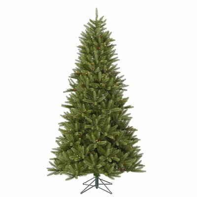 Vickerman Co. Bradford 7.5' Green Pine Artificial Christmas Tree with 550 LED Multicolor Lights with Stand