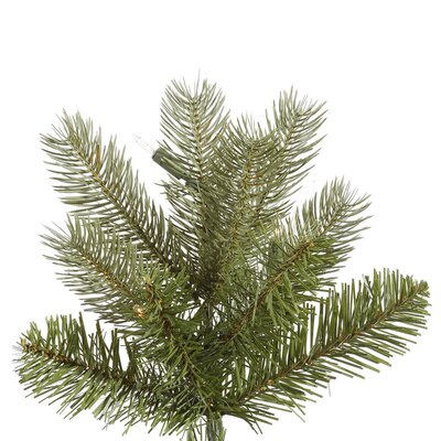 Vickerman Co. Belvedere 7.5' Green Spruce Artificial Christmas Tree with 700 Dura-Lit Clear Lights with Stand