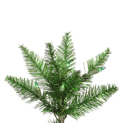 Vickerman Co. 5.5' Tinsel Green Slim Fir Artificial Christmas Tree with 300 Mini Lights