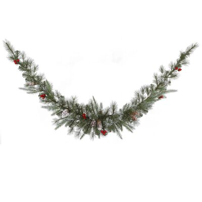 Vickerman Co. Frosted Pine Berry Swag Garland