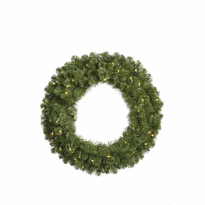 Vickerman Co. Grand Teton Wreath with 200 Dura-Lit Lights