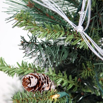 Vickerman Co. Glitter 2' Green Mixed Pine Artificial Christmas Tree with 20 Lights