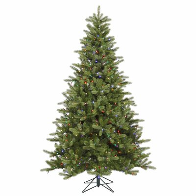 Vickerman Co. King 7.5' Green Spruce Artificial Christmas Tree with 700 LED Multicolored Lights with Stand