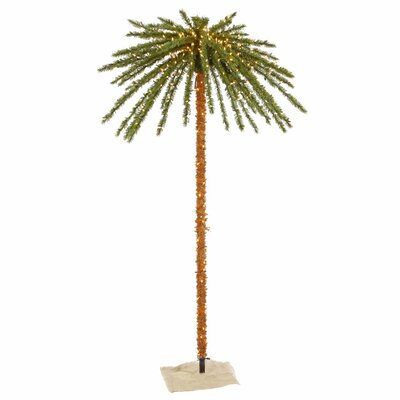 Vickerman Co. 7' Green Outdoor Palm Artificial Christmas Tree with 500 Clear Lights