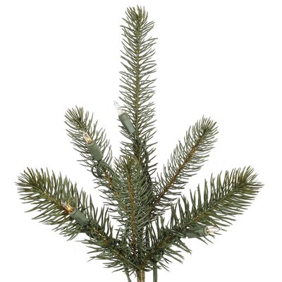 Vickerman Co. Colorado 7.5' Green Slim Spruce Artificial Christmas Tree with 650 Dura-Lit Clear Lights with Stand