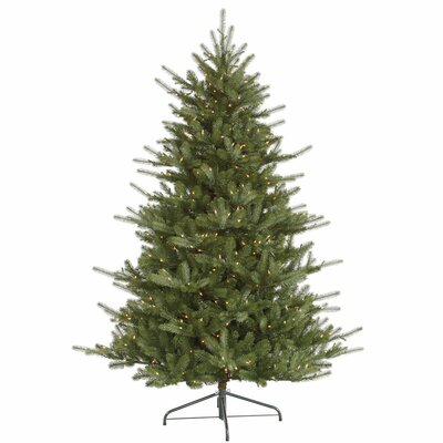 Vickerman Co. Colorado 7.5' Green Spruce Artificial Christmas Tree with 700 Dura-Lit Clear Lights with Stand