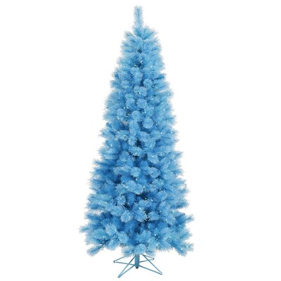 Vickerman Co. Baby Cashmere 7' Blue Artificial Christmas Tree with 400 Dura-Lit Lights with Stand