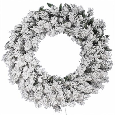 Vickerman Co. Flocked Snow Ridge Wreath with 224 Tips