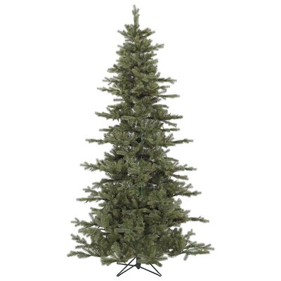 Vickerman Austrian 7.5' Green Fir Slim Artificial Christmas Tree with Stand