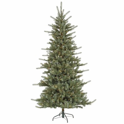Vickerman Co. Colorado 9' Blue Spruce Artificial Christmas Tree with 900 Dura-Lit Clear Lights with Stand