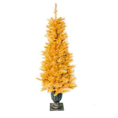 Vickerman Co. Glitter 6' Gold Cashmere Artificial Christmas Tree with 300 Clear Lights