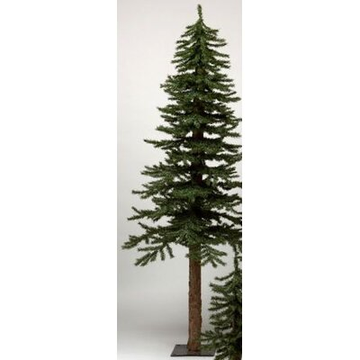 Vickerman Co. Natural Alpine 7' Green Artificial Christmas Tree with Metal Stand