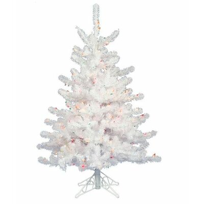 Vickerman Crystal White 3' White Artificial Christmas Tree with 45 LED Warm White Lights
