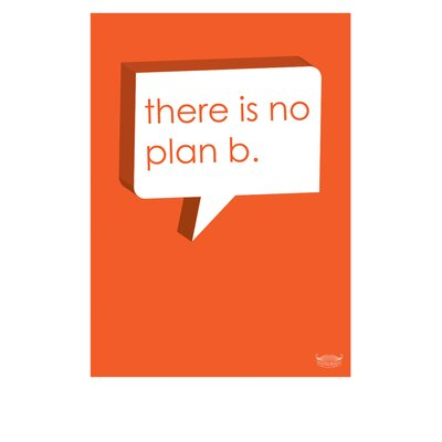 Yankee Hipster There Is No Plan B Poster