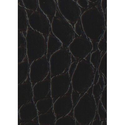"EcoDomo Rainforest 7-5/8"" x 45-7/8"" Recycled Leather Plank in Jumbo Croc Merlot"