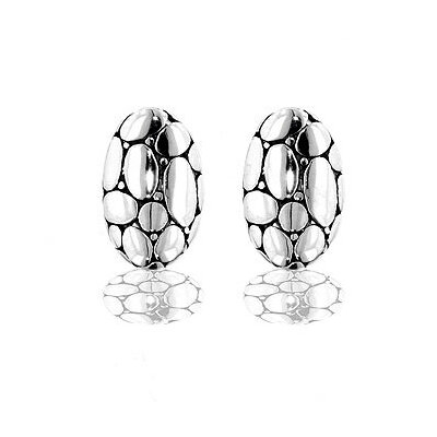 Silver-Tone Bali Inspired Designer Earrings
