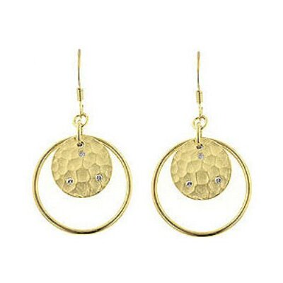 Matte Gold-Tone and Cubiz Zirconia Accent Drop Earrings