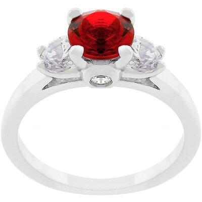 Cubic Zirconia Triplet Ring
