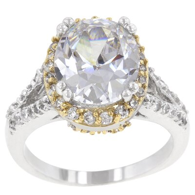 Clear Cubic Zirconia Solitaire Coronation Engagement Ring