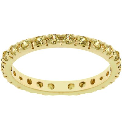 Kate Bissett Rhodium Bonded Cubic Zirconia Eternity Ring