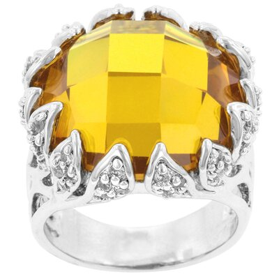 Clear Cubic Zirconia Solare Ring