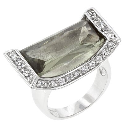 Kate Bissett Clear Cubic Zirconia Ivy Cradle Cocktail Ring