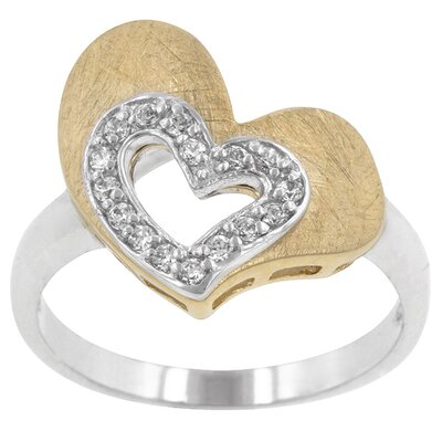 Clear Cubic Zirconia Fabulous Heart Ring