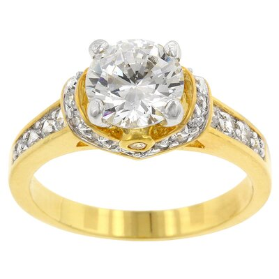Clear Cubic Zirconia Crushed Ring
