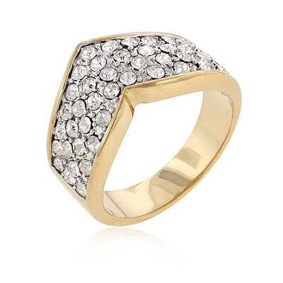 Clear Crystal Pave Crystal Ring