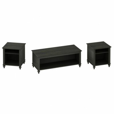 kathy ireland Office by Bush Volcano Dusk 3 Piece Coffee Table Set