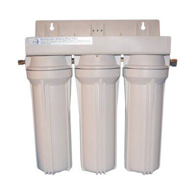 CuZn Water Systems Refillable Triple Housing Filter for Many Contaminants