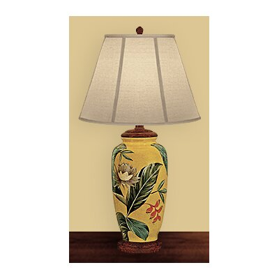 JB Hirsch Home Decor Palm Leaf Table Lamp