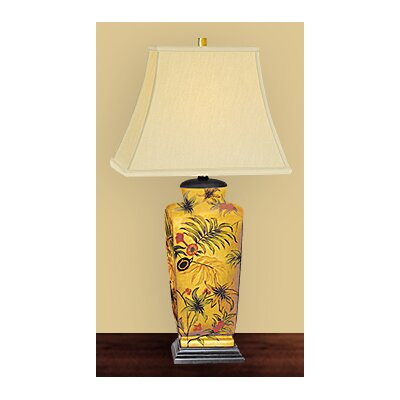 JB Hirsch Home Decor Majestic Palm Leaf Table Lamp