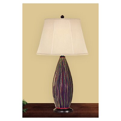 JB Hirsch Home Decor Serenity Wine Bottle Table Lamp