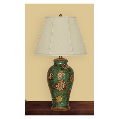 JB Hirsch Home Decor Floral Table Lamp