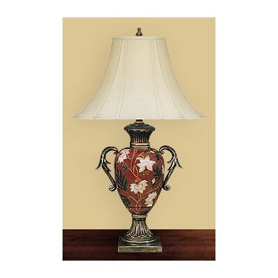 JB Hirsch Home Decor Flower Vase Table Lamp