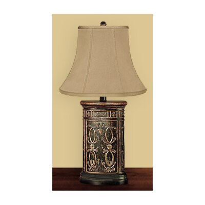 JB Hirsch Home Decor Wooden Regal Canister Table Lamp