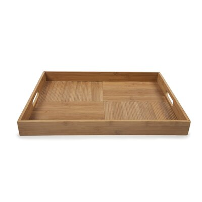 Core Bamboo Criss-Cross Rectangular Serving Tray