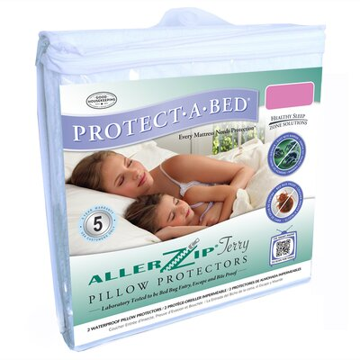 Protect-A-Bed Aller Zip Anti-Allergy and Bed Bug Proof Pillow Encasement in White
