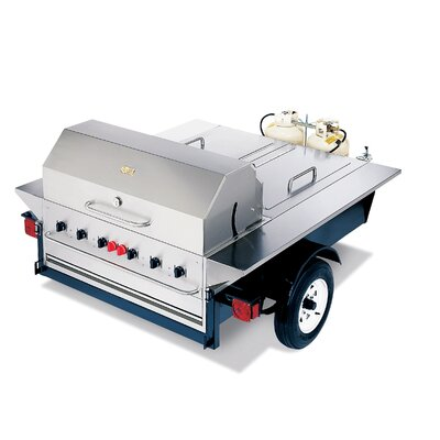 Crown Verity Tailgate Propane Gas Grill with Storage