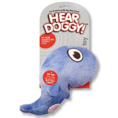 Hear Doggy Plush Dog Toy Whale