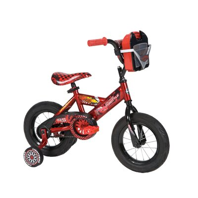"Huffy Boy's 12"" Disney Cars Cruiser Bike with Training Wheels"