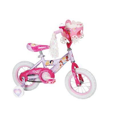 "Huffy Girl's 12"" Disney Princess Cruiser Bike with Training Wheels"