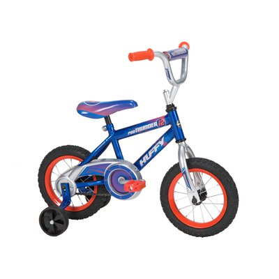 "Huffy Boy's 12"" Pro Thunder Cruiser Bike with Training Wheels"