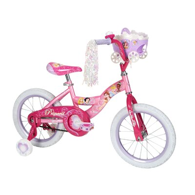 "Huffy Girl's 16"" Disney Princess Cruiser Bike with Training Wheels"