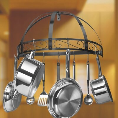 Kinetic Wrought Iron Wall Half Round Pot Rack