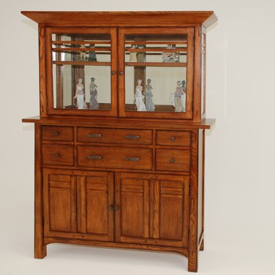 gs furniture arts and crafts bungalow china cabinet. Black Bedroom Furniture Sets. Home Design Ideas